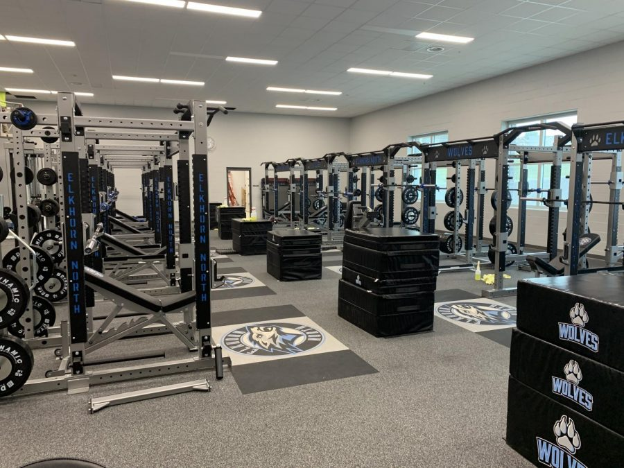 The new Elkhorn North weight room has been a great piece of the new school.