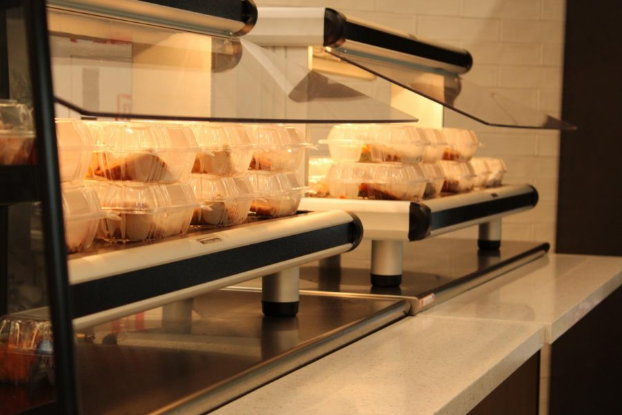 Pre-packaged pizzas are a popular option available to students in the lunch room.