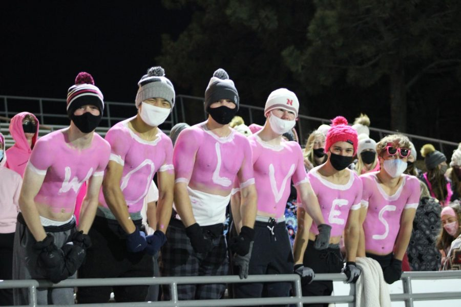 Junior painters at the last home game.
