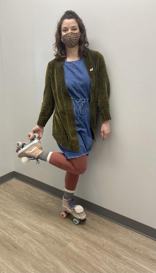 Ms.+Rosonke+with+her+roller+skates.