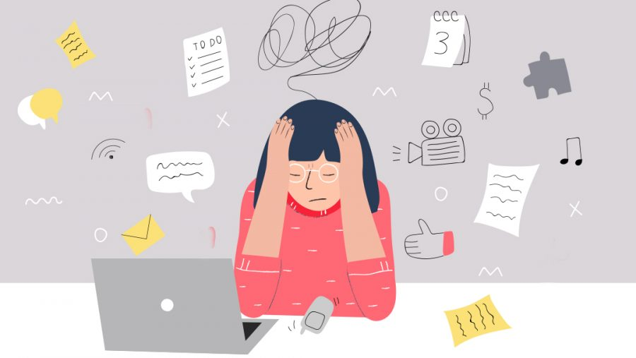 A+graphic+of+a+person+getting+stressed+out.+