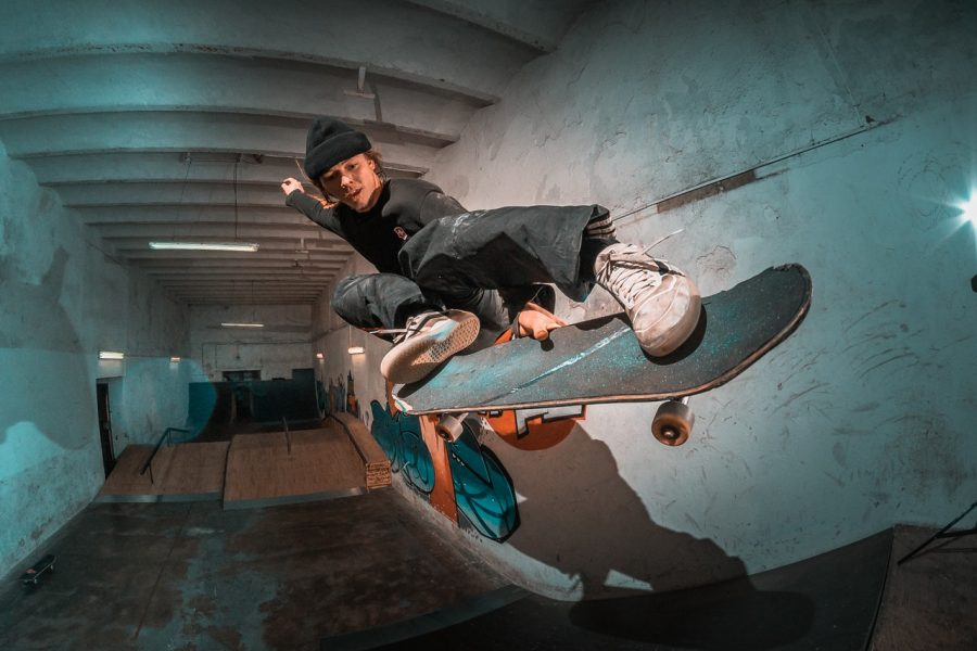 Skater getting air