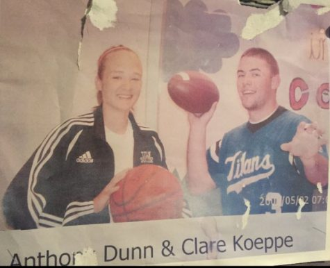 Anthony Dunn and his wife in high school.