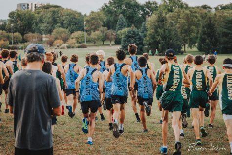 JV Boys starting their race.