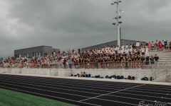 Fans in the Elkhorn North Stadium fro the Gatorade scrimmage.