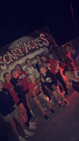 Nadgwick and her friends at Scary Acres. Photo Creds: Hannah Nadgwick